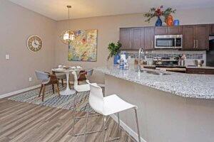 I STREET Modern Apartments - Bentonville Arkansas - Kitchen