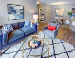 I STREET Modern Apartments - Bentonville Arkansas - Living Room
